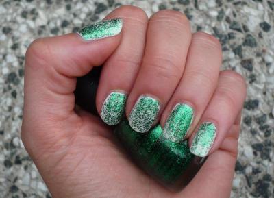 Grass green glitter